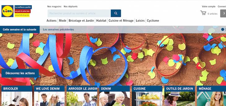 dopo la germania dove attivo dal 2009 anche lidl belgio parte con un sito dedicato alle commerce che al momento contiene 350 articoli non food - Lidl Jardin