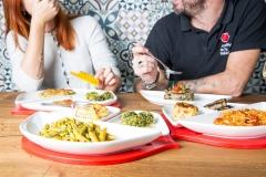 SocialBacio- Piatto in primo piano carbonara sbagliata vegetariana