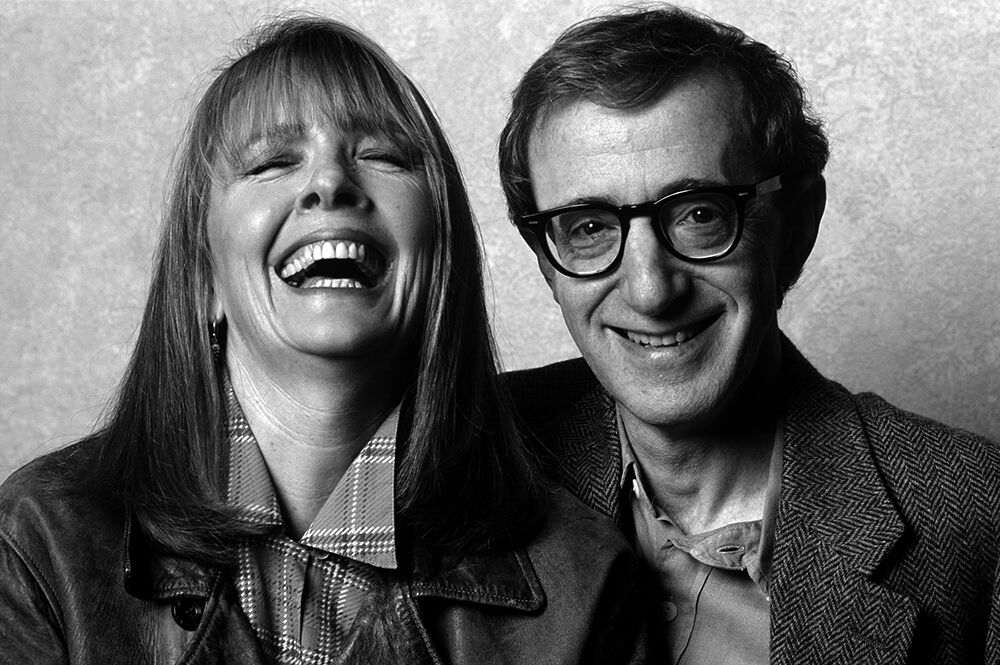 Diane Keaton shares a Laugh with Woody Allen, NYC