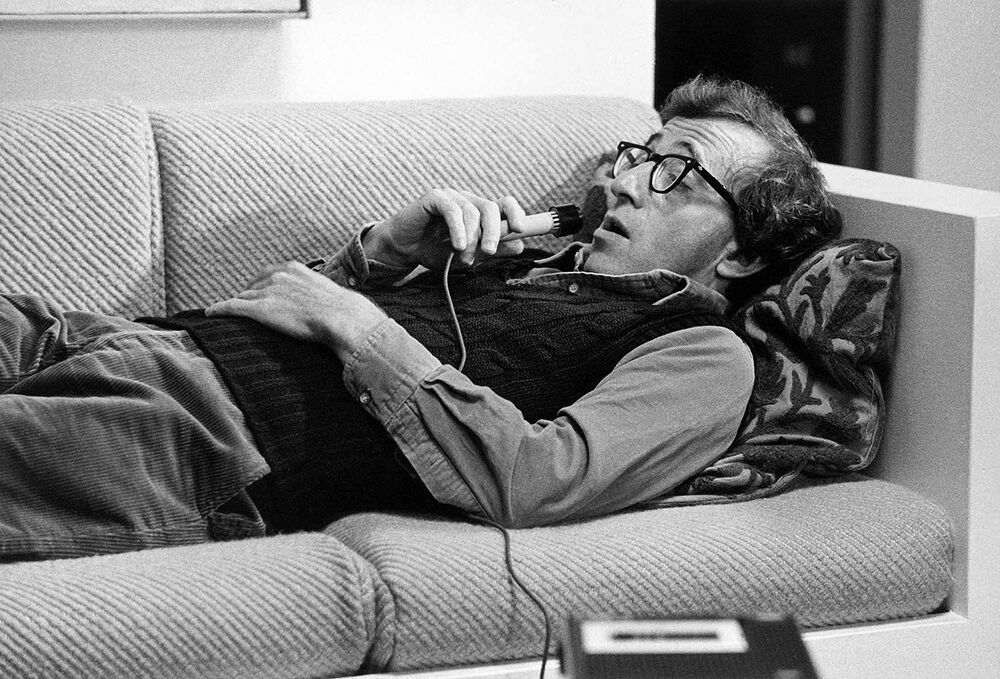 Woody Allen Speaking into a Recorder, Manhattan